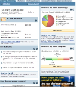Here's another First Energy  graph that highlights electric usage
