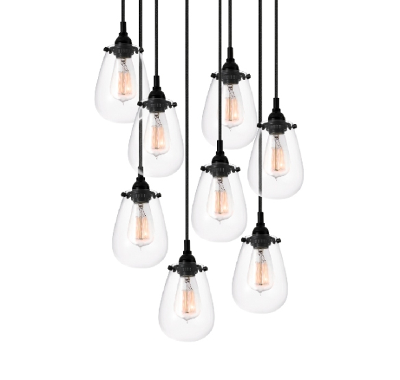 Barn Light Electric offers this simple multi bulb chandelier.