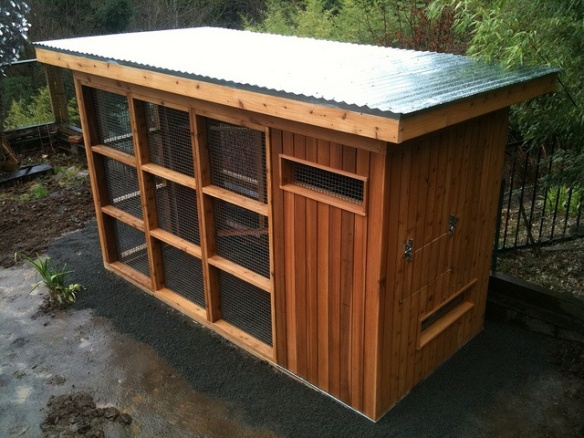 Another coop we saw on Pinterest. I like this one too and it fits our style.
