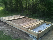 The cover panels can slide and be configured in a variety of ways. They make great benches.