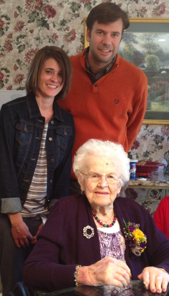The last picture of grandma and me. Taken about two weeks ago on her 100th birthday.