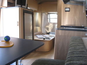 "Inside of the ""totaled"" Airstream 16' Bambi"
