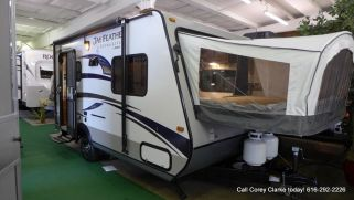 "I call this the ""bear feeder"" because it has two drop down beds, but it would easily sleep our family plus a couple grandparents, friends or family. It's a 2015 Jayco 17Z"
