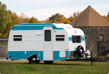 A Serro Scotty Highlander. Up until just recently you could buy these brand new from the dealer just across the border in PA. It's a 16' trailer, and one of the wife's personal favorites. Photo from the www.scottytrailers.com website