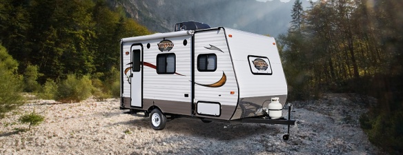 A typical modern day travel trailer within our budget. This Viking is from the www.coachmenrv.com website
