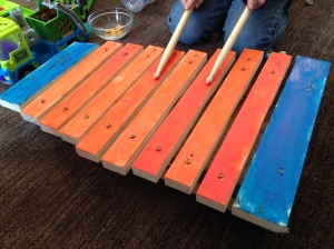 The xylophone in action.