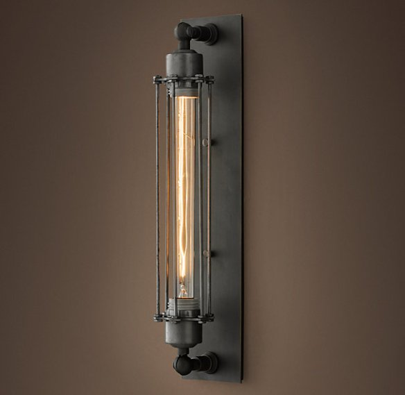 Grand Edison Caged Sconce from RH.