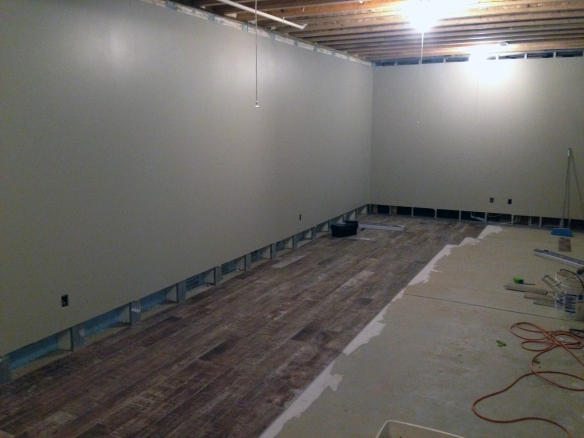 The tile is going to take a long time install. This is most of a day's worth of labor.