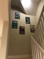 Hallway art hung 1