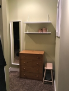 The closet alcove is finished!